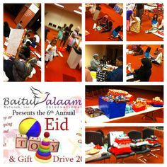 2014 Sixth Annual Eid Toy and Gift Drive gift wrap party at Masjid Al Mu minun.