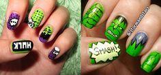 Incredible Hulk Nail Art Designs, Ideas, Trends & Stickers 2014 | Hulk Nails