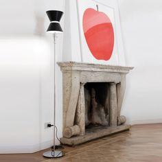 Afbeeldingsresultaat voor brass reading floor lamp omi