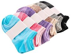 KINGDESON Womens SixPack Summer Sports Candy Color Cotton Ankle Socks LowCut Socks ** Visit the image link more details.