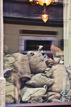 Bags in the shop window romantic decor  fine art by PhotoMood
