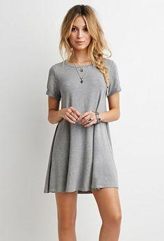 Heathered T-Shirt Dress