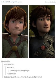 "Young Hiccup's like, ""Why can't I be like that now?"" lol XD"