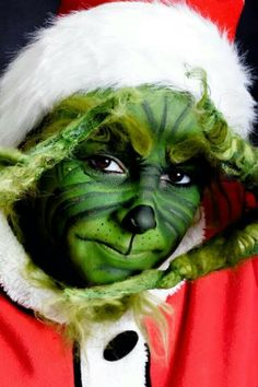 The grinch face paint more grinch face painting face vizard face