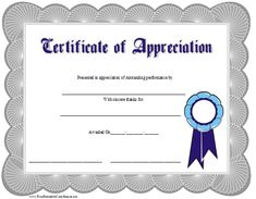 This Certificate Of Appreciation Is Adorned With A Blue with regard to Employee Recognition Certificates Templates Free - Best & Professional Templates Ideas Certificate Of Appreciation, Employee Appreciation, Teacher Appreciation Gifts, Free Printable Certificate Templates, Free Printables, Templates Free, Free Resume Samples, Sample Resume, Employee Recognition