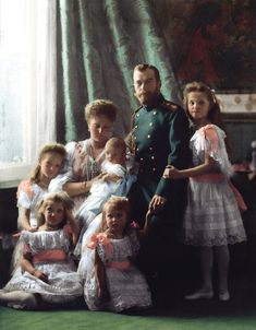The last Tsar of Russia Nicholas II. with his five children Grand Duchesses Olga, Tatiana, Maria and Anastasia and Tarevich Alexei. Originally black and. Tsar Nicolas, Romanov Sisters, Familia Romanov, Anastasia Romanov, House Of Romanov, Imperial Russia, History Photos, Kaiser, Michel
