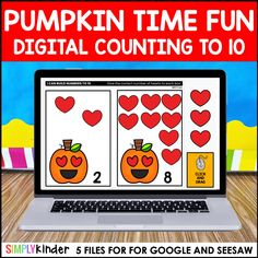 Pumpkin Counting to 10 for Google Classroom and Seesaw  *** GET THIS AS PART OF OUR ENDLESS DIGITAL COUNTING BUNDLE HERE ***  ••••••••••••••••••••••••••••••••••••••••••••••••••••••••••••••••••••••••••••••••••••••  Four Digital Counting to 10 activities sets for your kindergarten students. No need to print, students can work in Google Slides, Google Classroom, and on Seesaw.  Included in […] Kindergarten Teachers, Kindergarten Activities, Preschool, Teaching Calendar, Base Ten Blocks, Seesaw, Google Classroom, Math Centers, Pumpkins