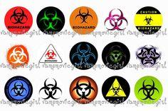 Biohazard Bottle Cap Images Biohazard Tattoo, Bottle Cap Images, Bottle Caps, Zombie Princess, Image Collage, Circle Template, Girly, Badass Tattoos, As You Like