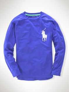 We will be living in these Ralph Laurens boys' soft active tees this fall!