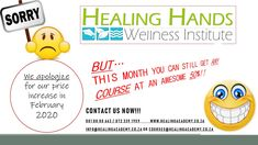 Take advantage of our 50% DISCOUNT offer before our price increase effective 1 Feb'20  Contact us today! www.healingacademy.co.za