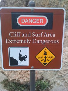 No, seriously.  Cliffs are EXTREMELY dangerous.