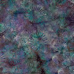"""Sea Urchin Windmill Batik Fabric/ 44"""" wide/per yard (6.99) Nancy's Notions"""