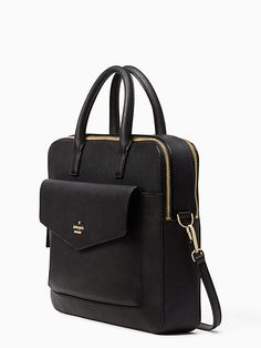 Shop the black 13 inch double zip laptop bag at Kate Spade New York official UK website. Explore our latest collection of ks-accessories online now. Backpack Purse, Laptop Backpack, Purse Wallet, Trend Fashion, Fashion Bags, Fashion Backpack, Bag Women, Women Work Bag, Laptop Bag For Women