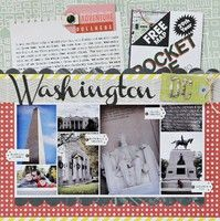 Washington DC scrapbook page