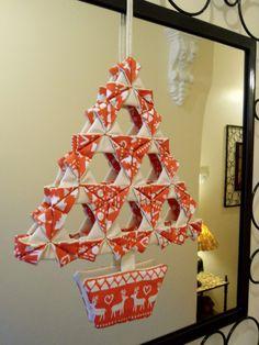 Fabric Origami Tree
