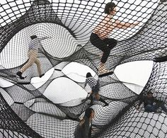 Inflatable Bounce House for Adults - reminds me of the #crochet playgrounds by Toshiko Horiuchi Macadam