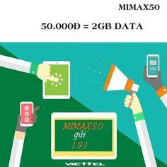 Đăng ký gói cước Mimax50 Viettel, dùng 3G chỉ với 50.000đ