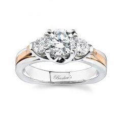 Rose gold three stone ring - 6713LTW