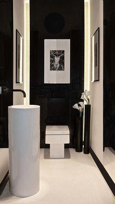 Décoration intérieure / Toilettes WC / Blanc noir / Black white / Bicolore…