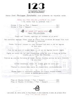 Notre nouveau chef est arrivé !! Monsieur Philippe Zanchetta, vous propose dès aujourd'hui sa nouvelle carte !! #restaurantlarochelle #larochelle #mars2015 #bonplan   Restaurant 123 au 123 avenue du Clavier ! 05 46 07 91 42