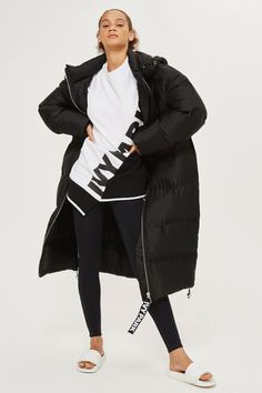 Longline Bonded Puffer Jacket by Ivy Park
