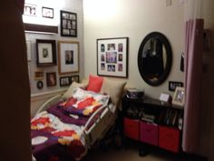 Warm and homey ways to decorate a nursing home room! #nursinghomeroom #decorating