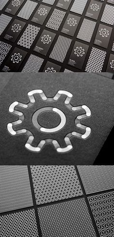 Iconography On A Black And White Business Card