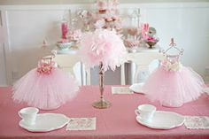 DIY Ballerina Party Centerpieces!  Cakes, Mudpies, and other fun Crumbs!