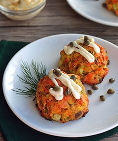 Guest Post by Sharon Bishop - Paleo Springtime Salmon Cakes - The Paleo Mom
