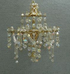 miniature dollhouse crystal chandelier.