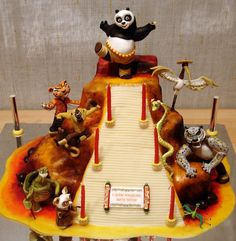 Favorite cake - He likes that Po is at the top being the dragon warrior and all the characters are in motion, it is like a scene come to life