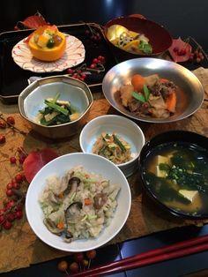 Japanese Food / 肉じゃが、ほうれん草の煮浸し 他