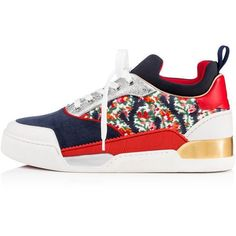 Men's Designer Sneakers - Christian Louboutin Online Boutique ❤ liked on Polyvore featuring men's fashion, men's shoes, men's sneakers, mens shoes, mens sneakers, christian louboutin mens sneakers and christian louboutin mens shoes