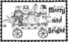 Free Printable Primitive Stitchery Patterns | Red Brolly Christmas card free printables. - Red Brolly