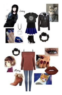 """""""day one"""" by narutoakatsuki on Polyvore featuring Doublju, Wilsons Leather, Yves Saint Laurent, Givenchy, beauty, 7 For All Mankind, Gestuz, Lime Crime and Charlotte Russe"""