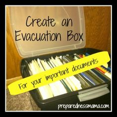 Day 19 - Gather Important Information, The Evacuation Box - 72 Hour Kits - Disaster Preparation Create an Evacuation Box For Your Important Documents [Tutorial] : National Preparedness Month Challenge