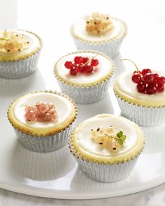 Cheesecake Cupcakes with Sour Cream Topping - Martha Stewart Recipes