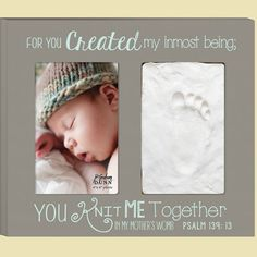 For You Created Photo Frame with Baby Footprint Clay Kit – ChristianGiftsPlace.com Online Store Baby Baptism Gifts, Christening Gifts, Psalm 139, Psalms, Baby Dedication, Baby Footprints, Create Photo, Gift Quotes, Christian Gifts