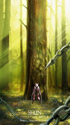 Saint Seiya - Shun l Art l Manga Anime, Art Anime, Knights Of The Zodiac, Comic Games, Fantastic Art, Animes Wallpapers, Anime Comics, Illustrations Posters, Larp