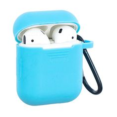 Non-slip Soft Silicone Case for Apple AirPods - Blue, Non-slip design Airpods Protective Case, Made of soft silicone material, With an aluminum buckle, Guuds Wholesale Basic White Girl, White Girls, High Tech Gadgets, Air Pods, Airpod Case, Apple Products, Of Brand, Protective Cases, Iphone Cases