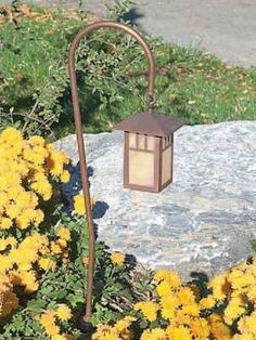 Hadco GASL4 Copper Mission Style Hook Mount Deco Glass Path Light   Hadco Mission Style Landscape Lighting - Low Voltage and Line Voltage - Brand Lighting Discount Lighting - Call Brand Lighting Sales 800-585-1285 to ask for your best price!