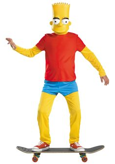 Kids Deluxe Bart Simpson Costume - *screams in terror*
