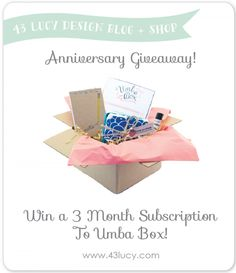 {Giveaway} Umba Box + Triple Celebration » 43 Lucy Design Blog + Shop