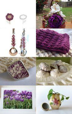 Purple Finds by Aleksandra Marosevic on Etsy--Pinned with TreasuryPin.com