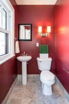 Traditional Powder Room with Wall sconce, complex marble tile floors, Powder room, Toto Drake 10 in. Toilet, Pedestal sink