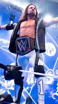 Wrestling Superstars, Wrestling Wwe, Wwe Wrestlemania 34, Aj Styles Wwe, Soccer City, Sports Drawings, Lycra Men, Wwe World, Wwe Champions
