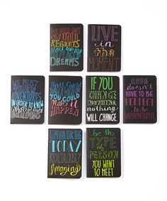 Look at this Quotations Mini Journal Set on #zulily today!