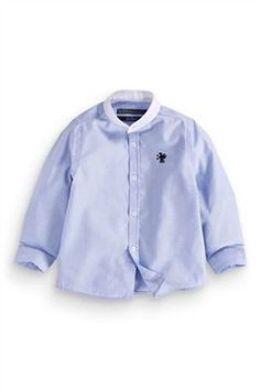 Buy Blue Long Sleeve Grandad Shirt (12mths-16yrs) from the Next UK online shop