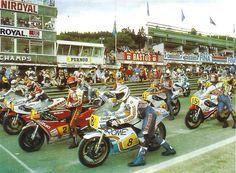 1980 Start Spa Francorchamps #8Jack Middelburg #2 Randy Mamola #1Kenny Roberts