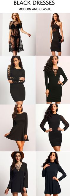 Black is always modern and classic.You will be the most beautiful scenery when you wear these dresses.